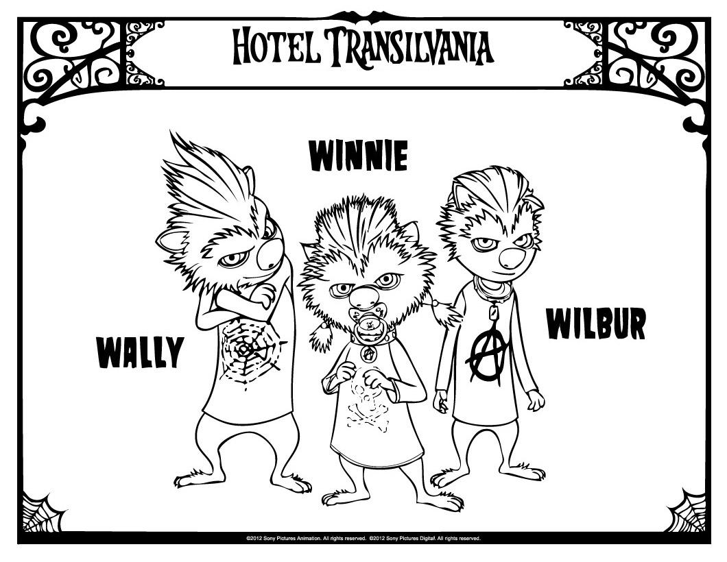 Simple coloriage de Hotel Transylvanie pour enfants