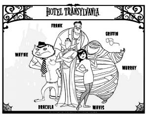 Coloriage de Hotel Transylvanie à imprimer