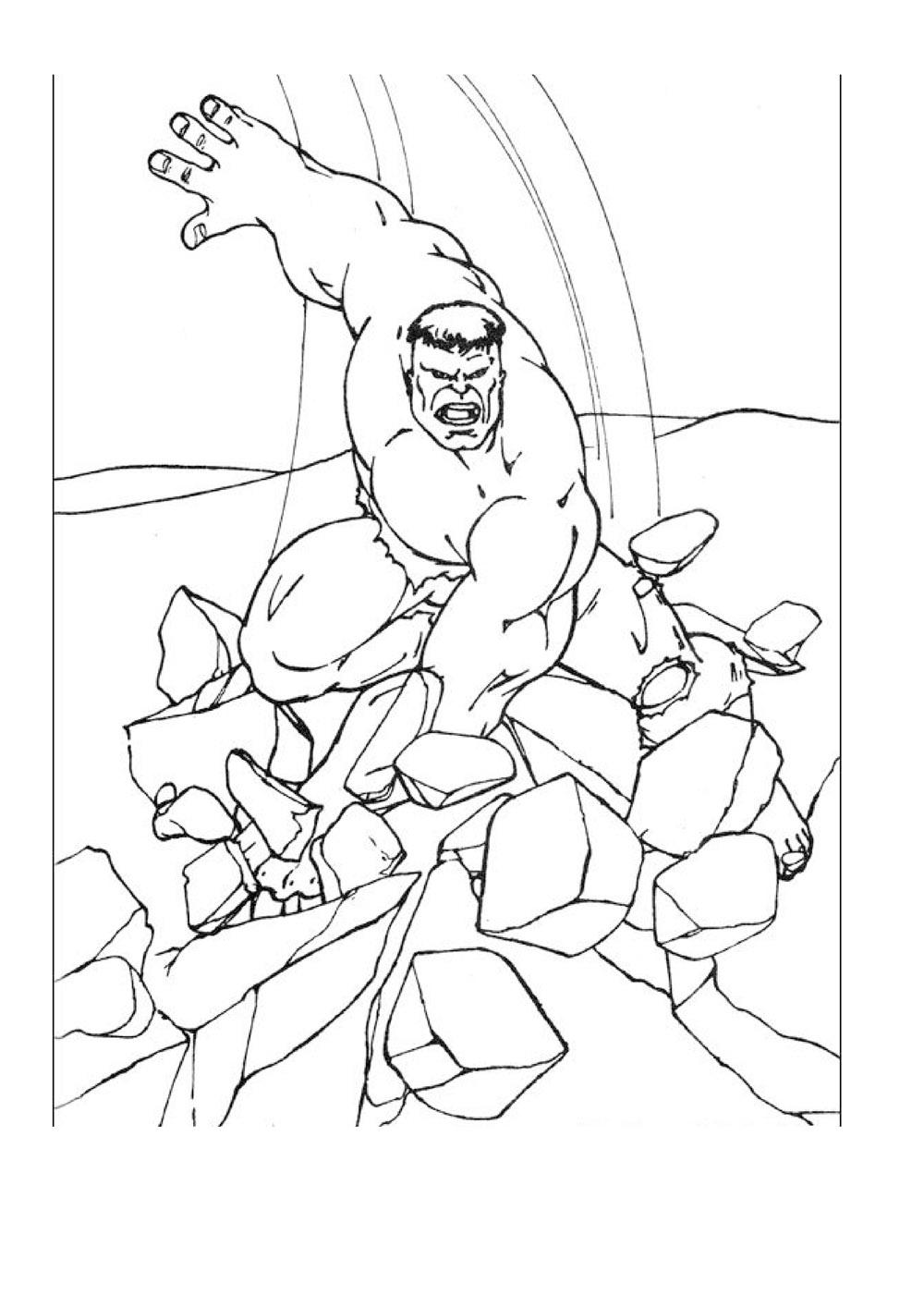 Coloriage de Hulk gratuit à colorier - Coloriage Hulk ...