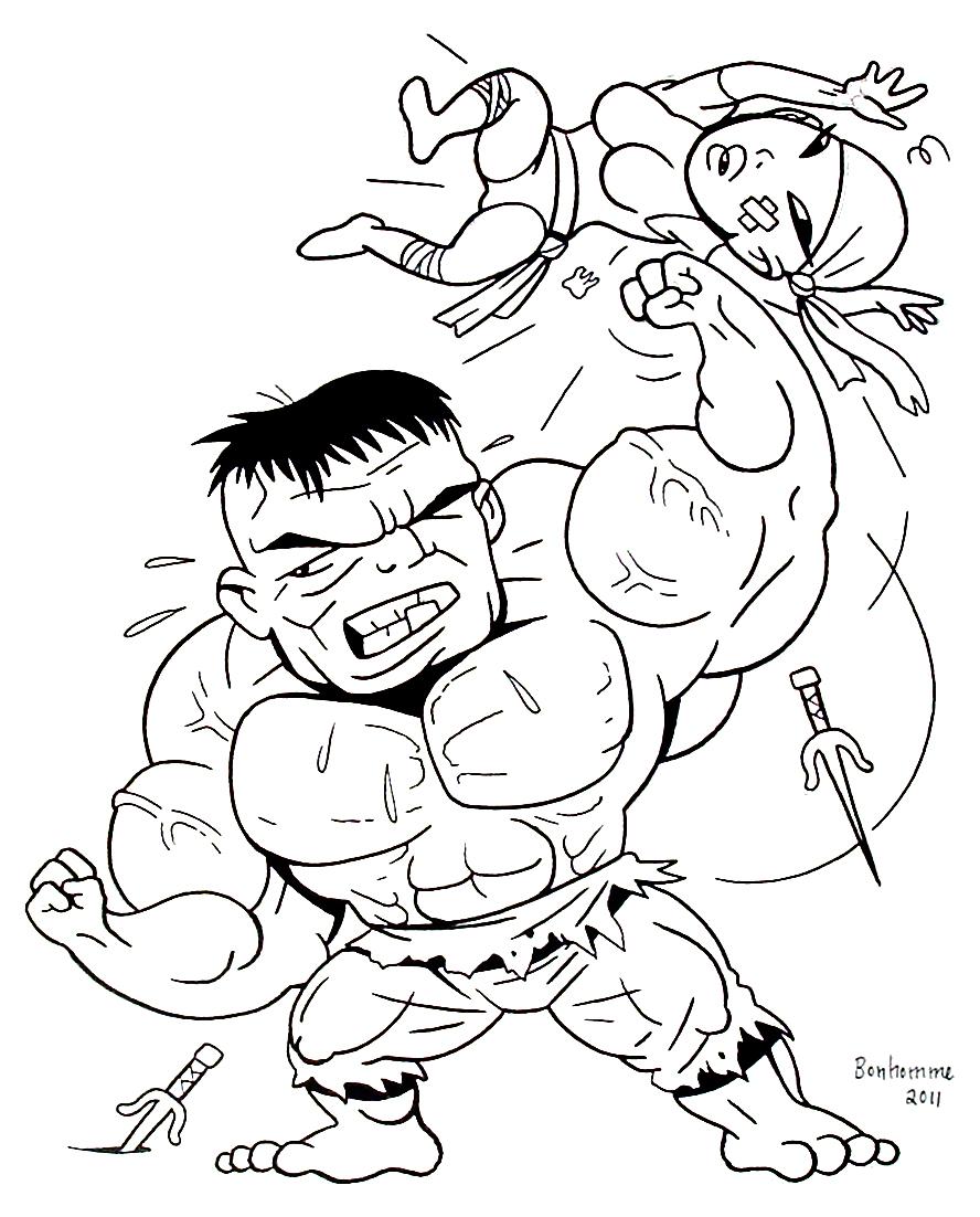 Image de Hulk à télécharger et imprimer pour enfants