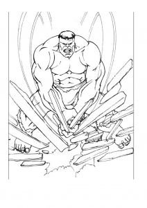 Dessin de Hulk gratuit à imprimer et colorier