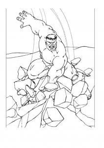 Coloriage de Hulk gratuit à colorier