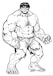 Image de Hulk à imprimer et colorier