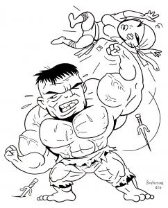 Coloriage de Hulk pour enfants