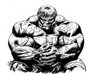 Coloriage de Hulk à imprimer pour enfants