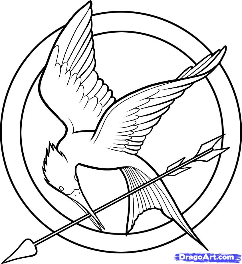 Coloriage Symbole de Hunger games