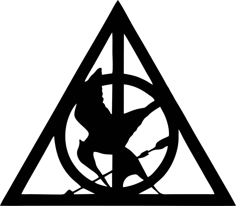 Symbole de Hunger games à colorier