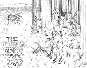 Coloriage de Hunger games à télécharger