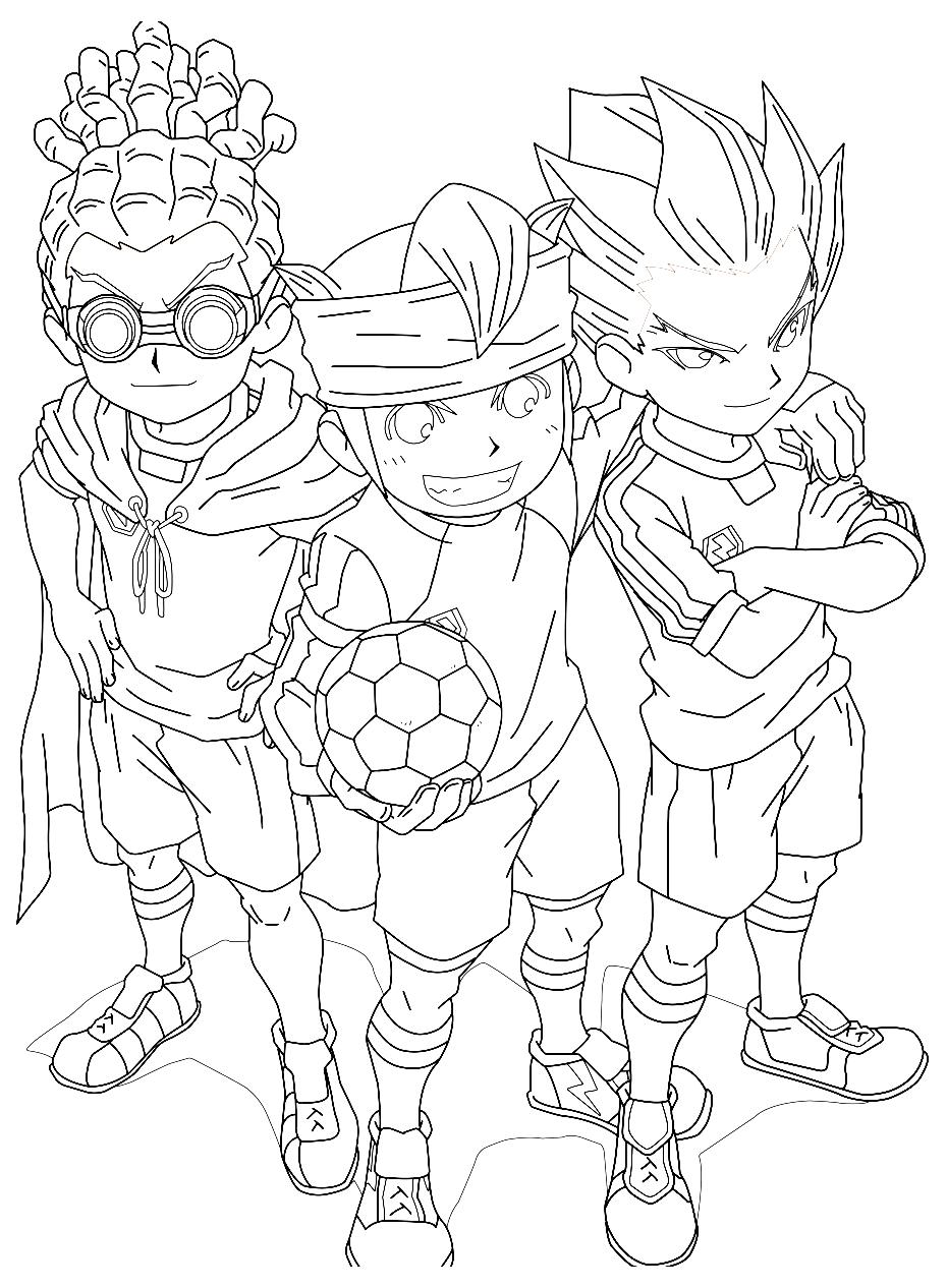 Coloriage sur le thème du Football avec Inazuma Eleven
