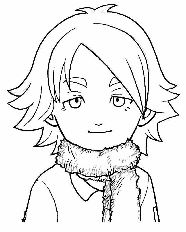 Personnage d'Inazuma Eleven à imprimer et colorier