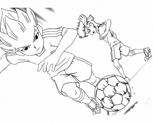 Coloriage de Inazuma Eleven à telecharger gratuitement