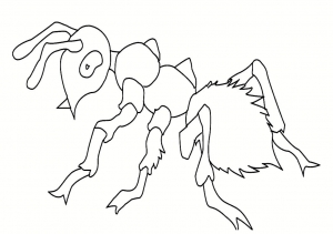 coloriage-insectes-fourmi-5 free to print