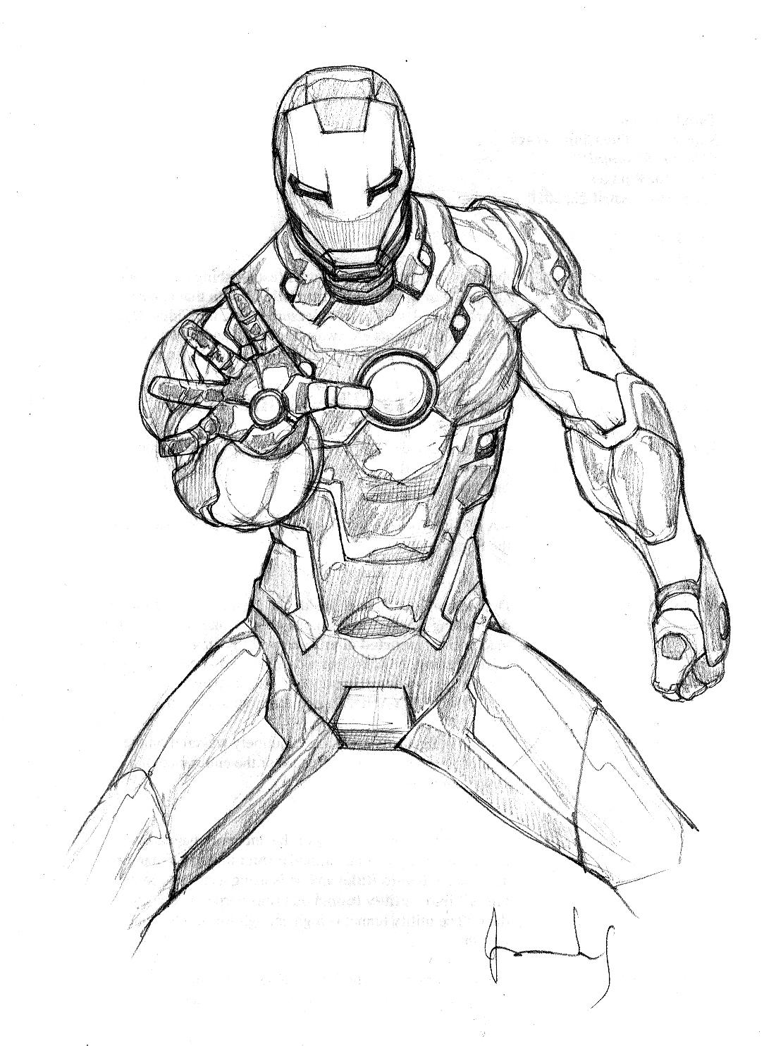Iron Man en position de combat