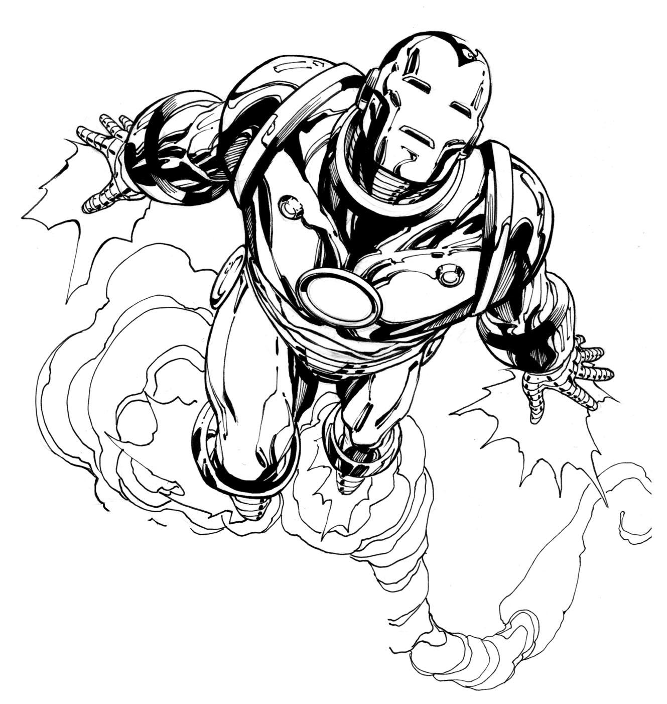 Coloriage de Iron man pour enfants - Coloriage Iron Man - Coloriages pour enfants