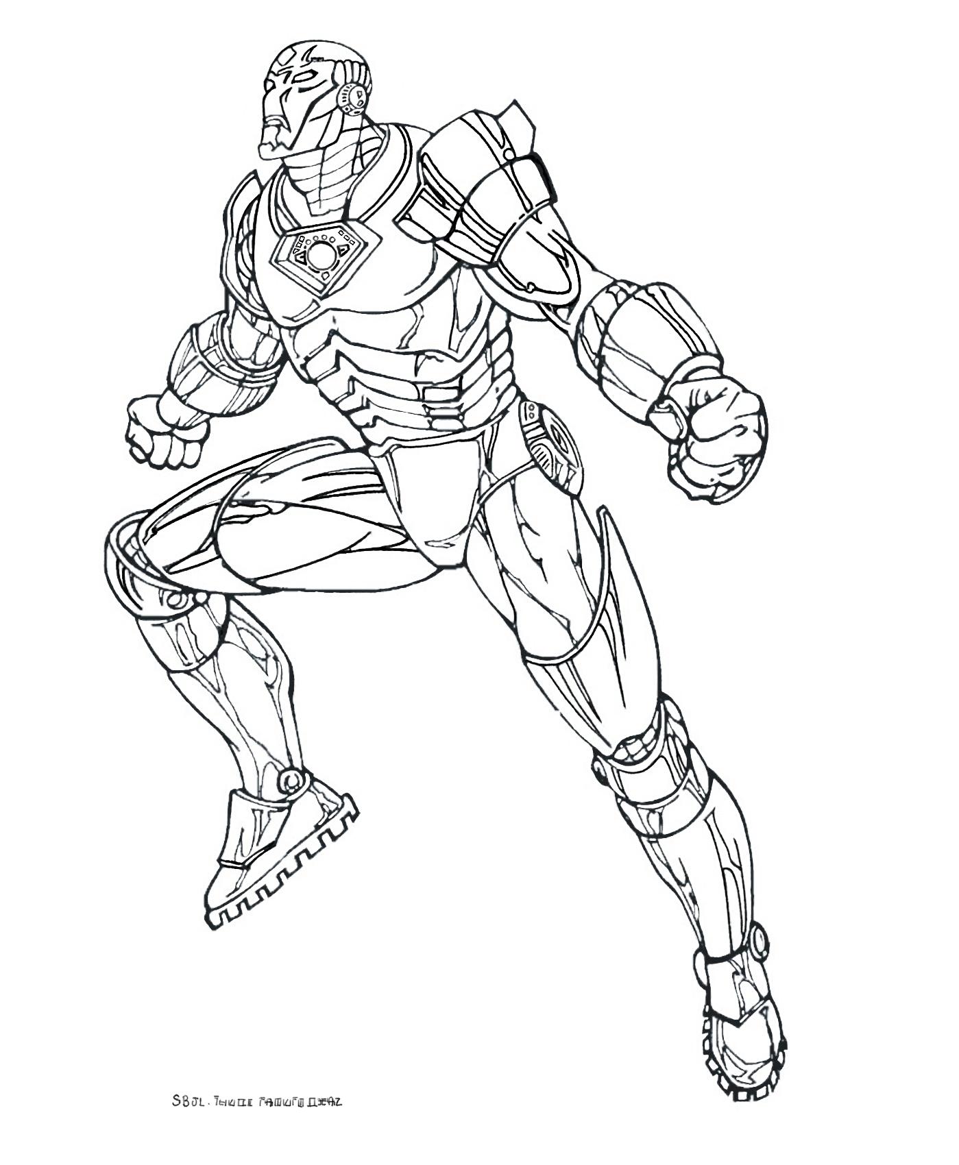 Un autre coloriage d'Iron Man à imprimer