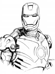 Coloriage iron man 11