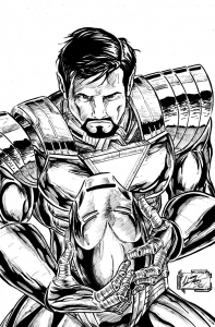 Coloriage iron man 13