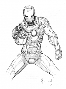 Coloriage iron man 3