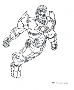 Coloriage iron man 4