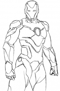 Coloriage iron man 7