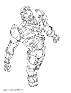 Coloriage iron man 9