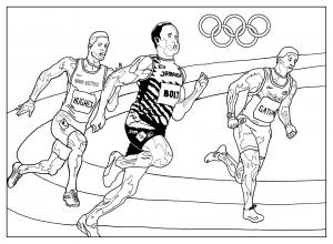 coloriage jeux olympiques athletisme