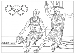 Coloriage jeux olympiques basketball
