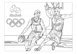 coloriage-jeux-olympiques-rio-2016-basket free to print