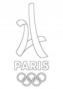 Coloriage logo paris 2024 jeux olympiques