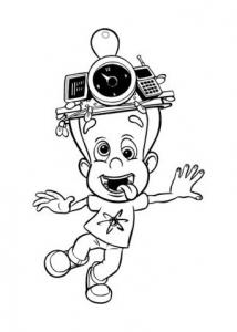 Coloriage de Jimmy Neutron pour enfants