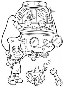Coloriage de Jimmy Neutron à télécharger