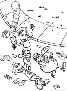 Coloriage de Jimmy Neutron à imprimer pour enfants
