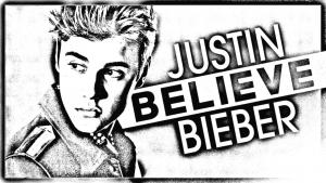 Coloriage de Justin Bieber à imprimer pour enfants