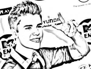 Dessin de Justin Bieber gratuit à télécharger et colorier