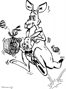Kangourou 3 coloriage de kangourous coloriages pour - Kangourou dessin ...
