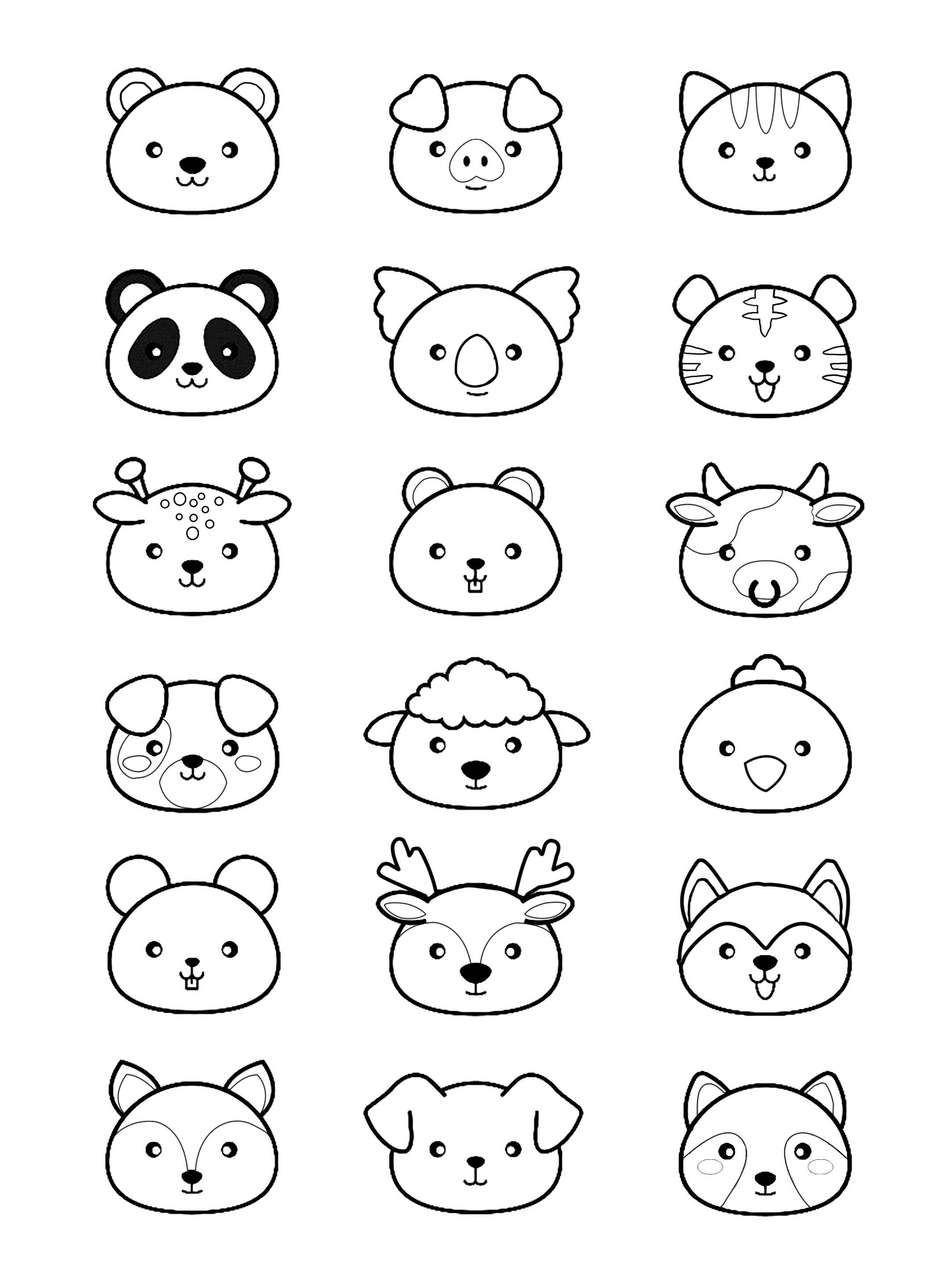 Kawaii animaux coloriage kawaii coloriages pour enfants - Dessin de tous les animaux ...