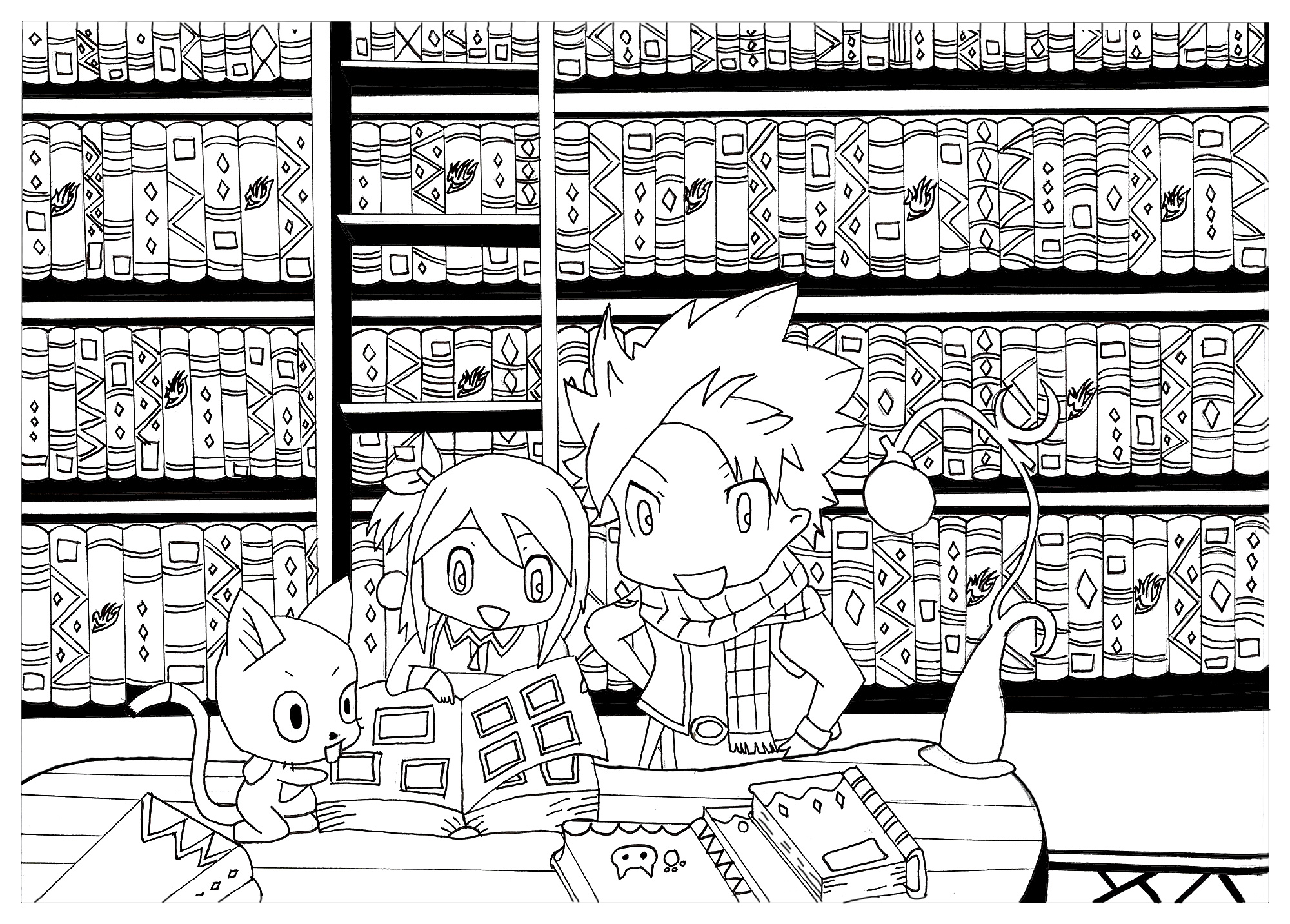 Kawaii chibi coloriage kawaii coloriages pour enfants - Manga 0 colorier ...