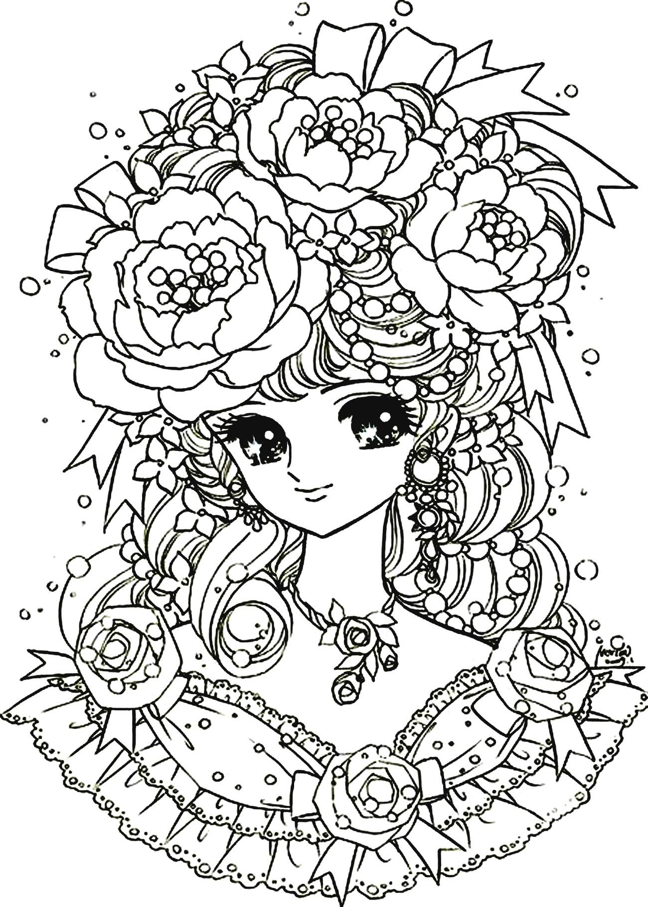 Kawaii Fleurs Coloriage Kawaii Coloriages Pour Enfants