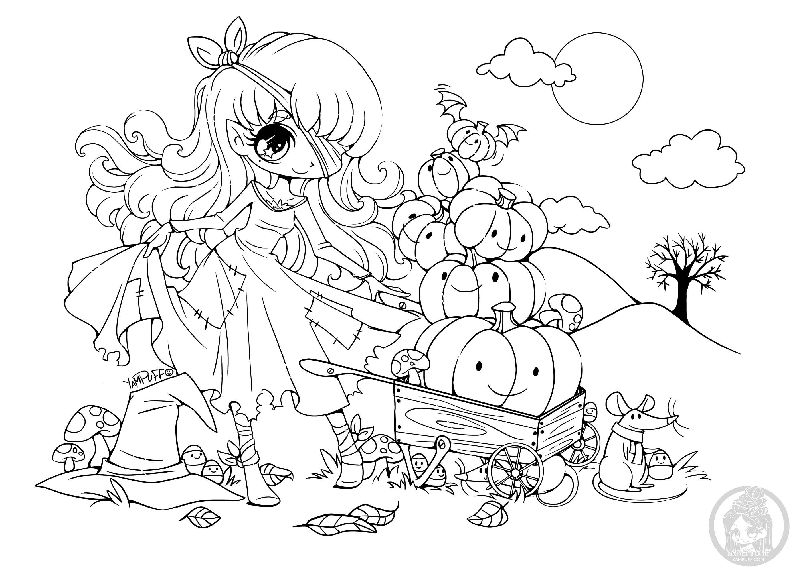 Princesse Citrouille Coloriage Kawaii Coloriages Pour Enfants
