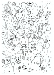 coloriage-creatures-kawaii-chloe