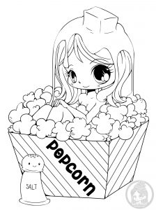 coloriage-fille-popcorn-yampuff