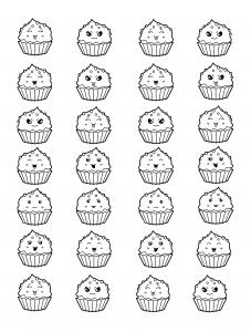 Cup cakes kawaii