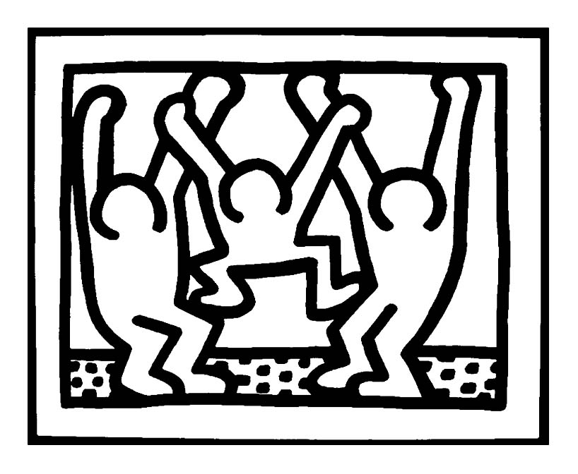 keith haring 15 | oeuvres archives - coloriages pour enfants