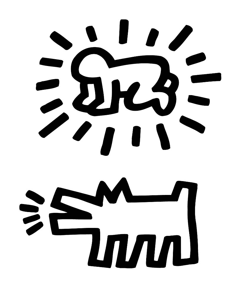 Fabulous Keith haring 20 | Coloriage Keith Haring - Coloriages pour enfants NN75