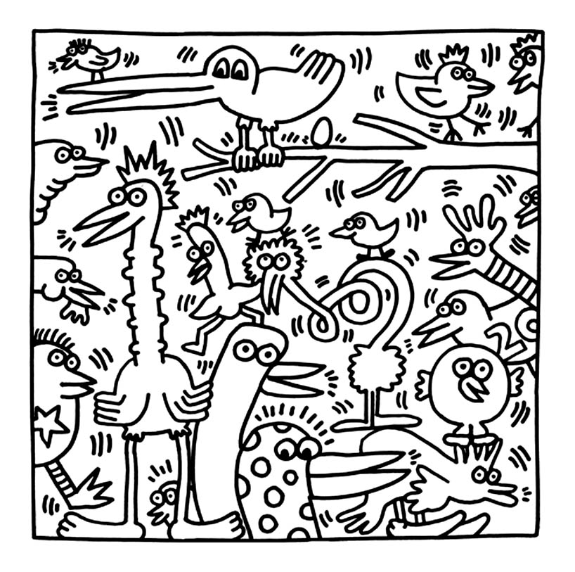 Keith haring 21 coloriage keith haring coloriages pour - Coloriage art ...