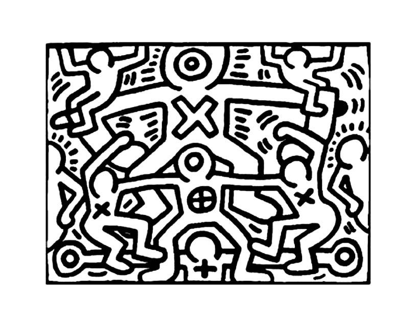 Keith Haring 5 Coloriage Keith Haring Coloriages Pour