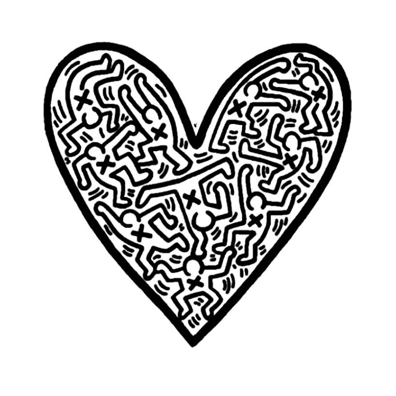 Keith haring 6 - Coloriage Keith Haring - Coloriages pour enfants