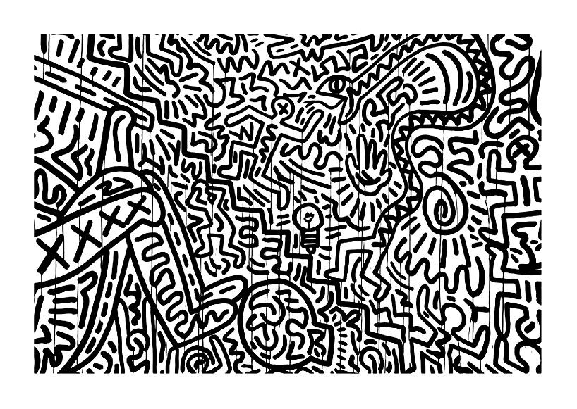 Coloriage Keith Haring Coloriages Pour Enfants