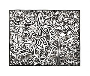 coloriage keith haring coloriages pour enfants. Black Bedroom Furniture Sets. Home Design Ideas