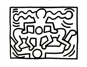Coloriage de Keith Haring à telecharger gratuitement